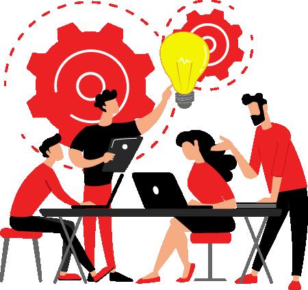 Cartoon - The Support Team